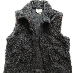 Charcoal Gray Fuzzy Vest